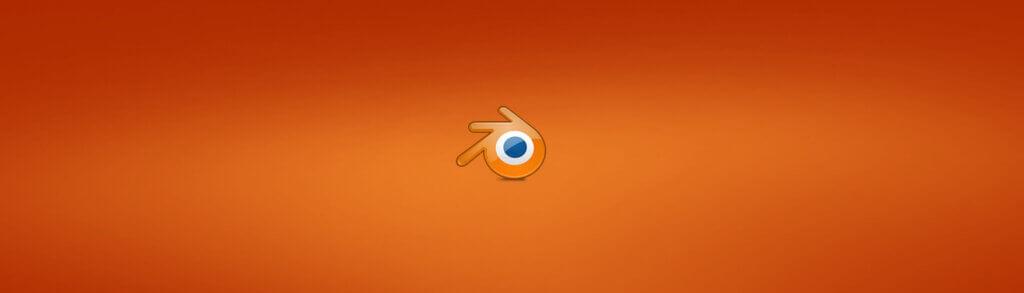 Logo blender, un rond orange avec un rond bleu à l'intérieur.