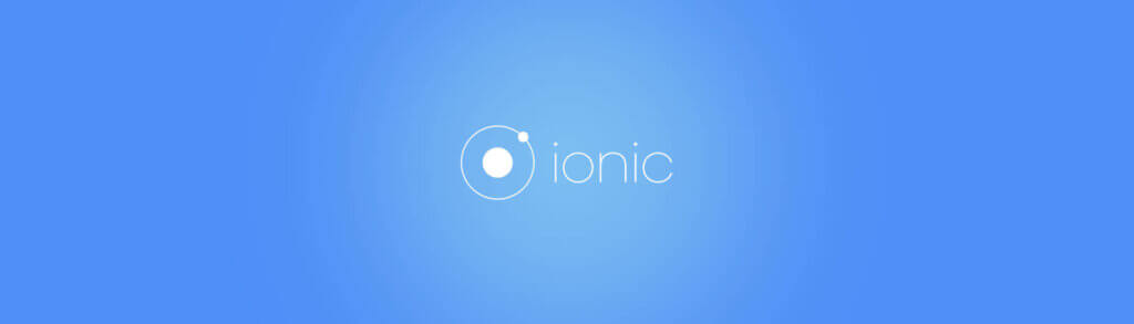 Logo Ionic au centre