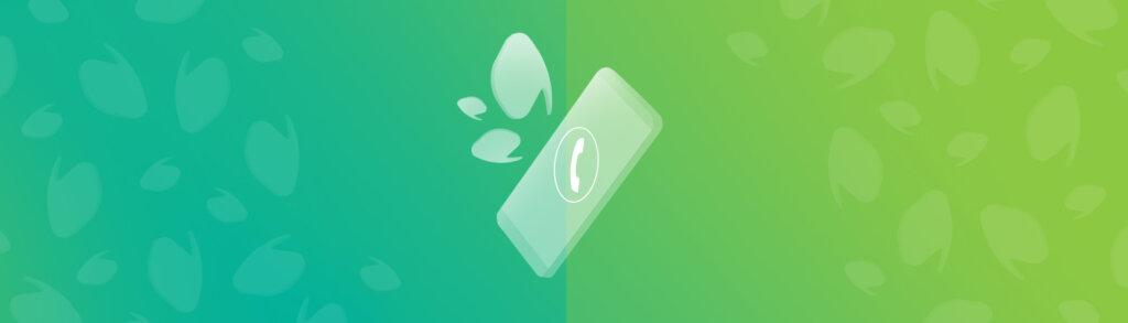 Téléphone au centre avec des bulles de conversation autour